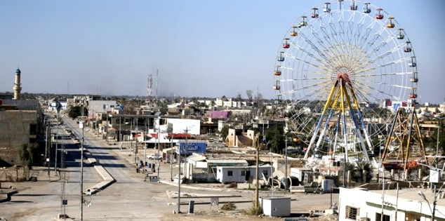 A general view of a street is seen in Ramadi city