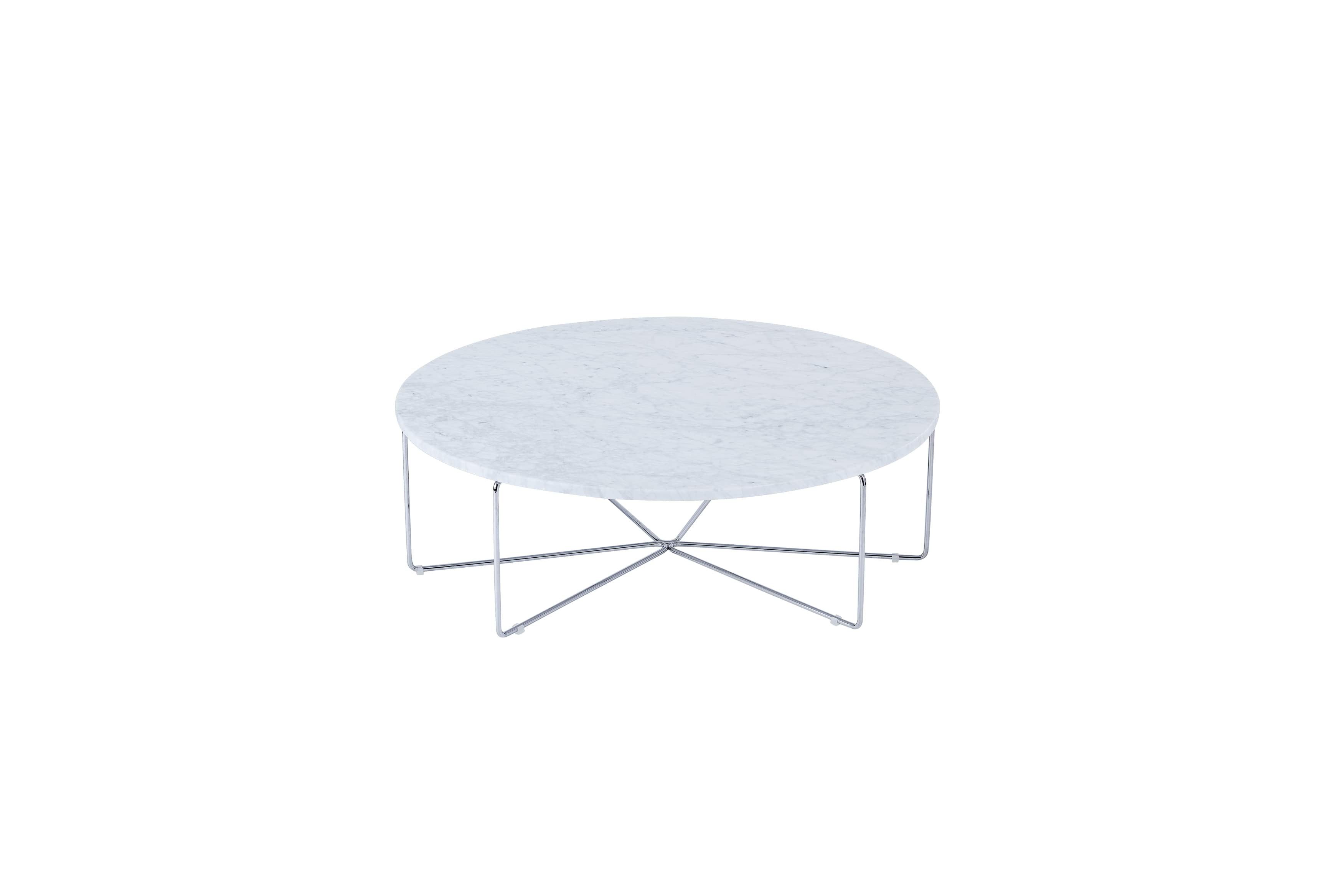 Ginger Coffee Table (Carrara w_Chrome Brass) AED