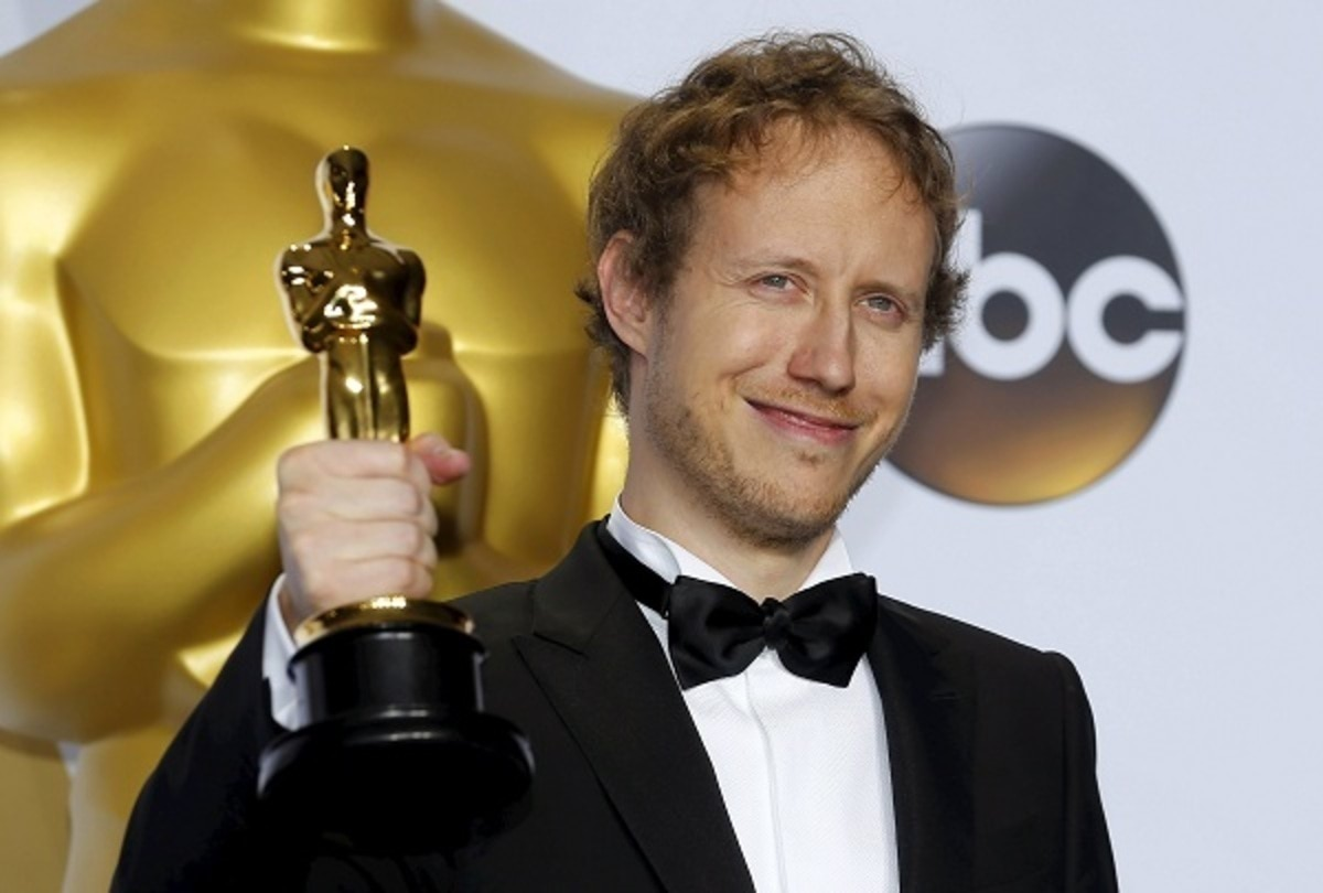 """Laszlo Nemes, director of Hungarian film """"Son of Saul"""" which won the Best Foreign Language Film, poses during the 88th Academy Awards in Hollywood"""