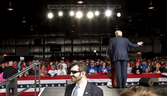 Donald Trump holds rally in Dayton, Ohio.