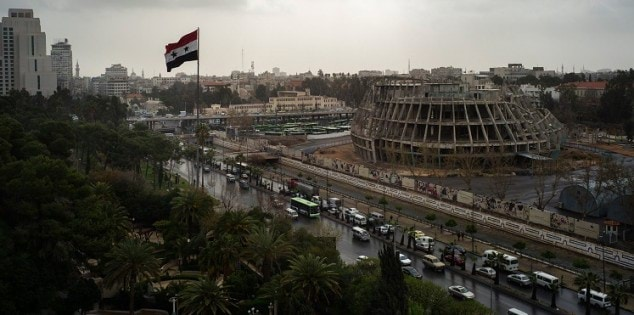 Damascus, Syria, March 14th, 2016: The city of Damascus is see