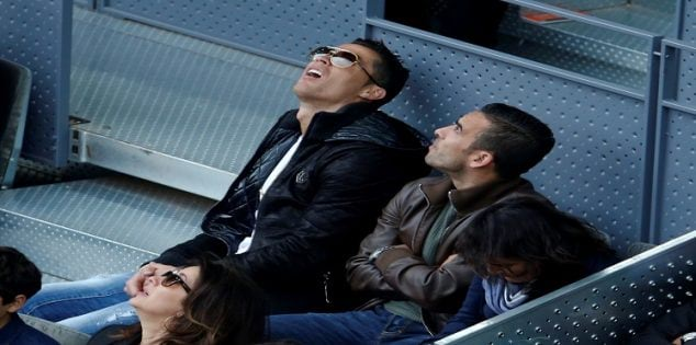 Tennis - Madrid Open - Rafael Nadal of Spain v Joao Sousa of Portugal - Madrid, Spain - 6/5/16 Real Madrid's soccer star Cristiano Ronaldo watches the match. REUTERS/Sergio Perez