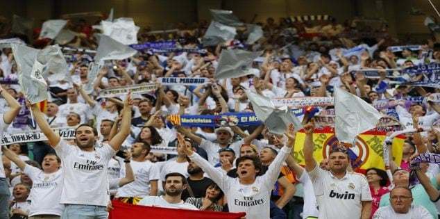 Soccer Football - Atletico Madrid v Real Madrid - UEFA Champions League Final - San Siro Stadium, Milan, Italy - 28/5/16 Real Madrid fans before the game Reuters / Stefan Wermuth Livepic EDITORIAL USE ONLY.