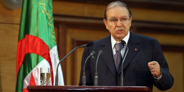 Algerian President Abdelaziz Bouteflika gives a speech to mark the opening of the judicial year during a ceremony held in Algiers on October 29, 2008. Bouteflika announced on October 29 that limited changes would be made to the country's constitution in the coming judicial year. He gave no date for the introduction of the reforms. AFP PHOTO / FAYEZ NURELDINE (Photo credit should read FAYEZ NURELDINE/AFP/Getty Images)