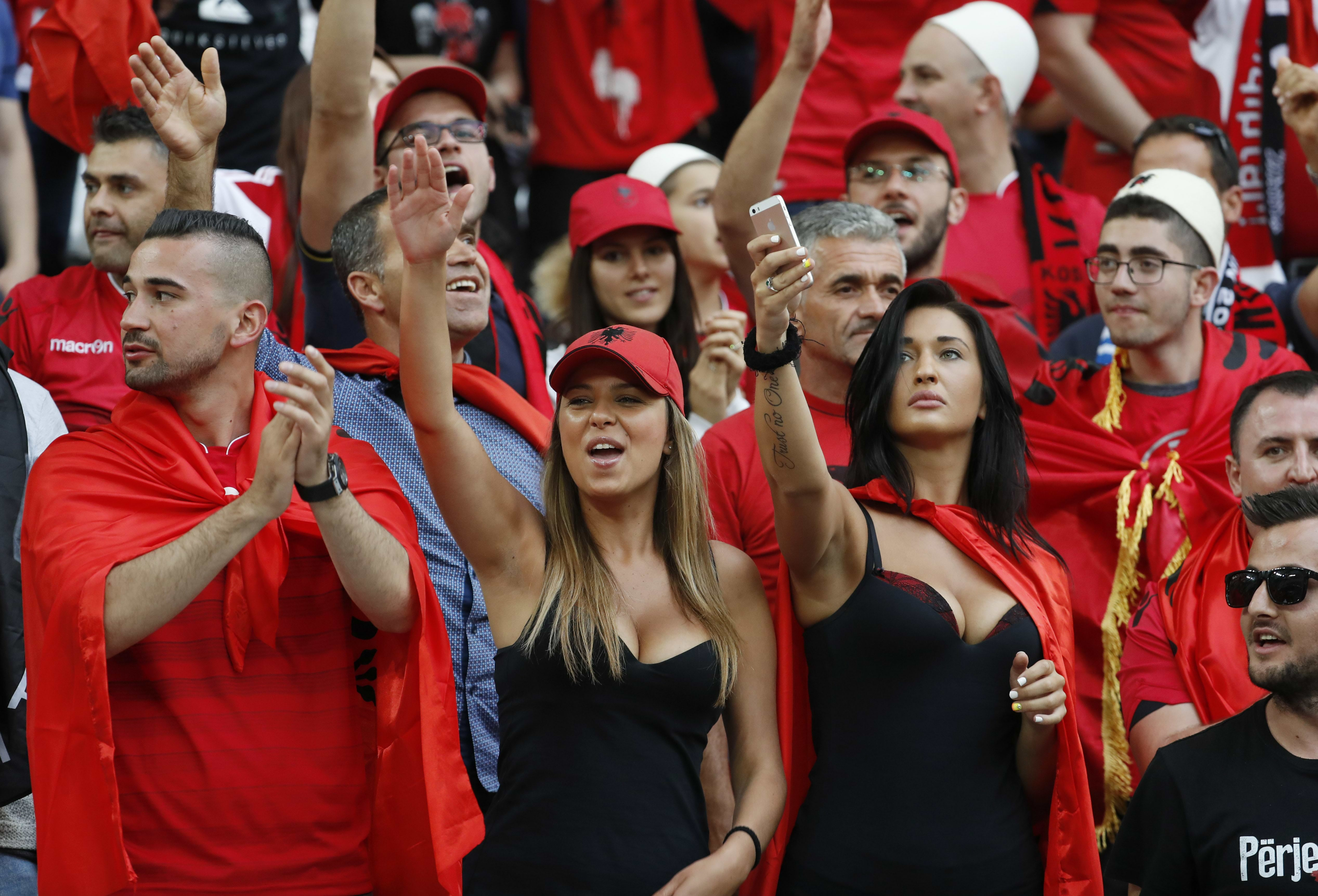 Football Soccer - France v Albania - EURO 2016 - Group A - Stade Vélodrome, Marseille, France - 15/6/16 Albania fans before the match REUTERS/Yves Herman Livepic