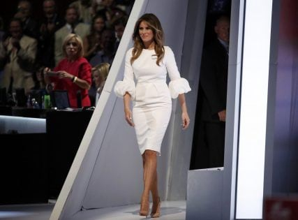 Melania Trump, wife of Republican U.S. presidential candidate Donald Trump, takes the stage to speak at the Republican National Convention in Cleveland, Ohio, U.S. July 18, 2016. REUTERS/Jim Young