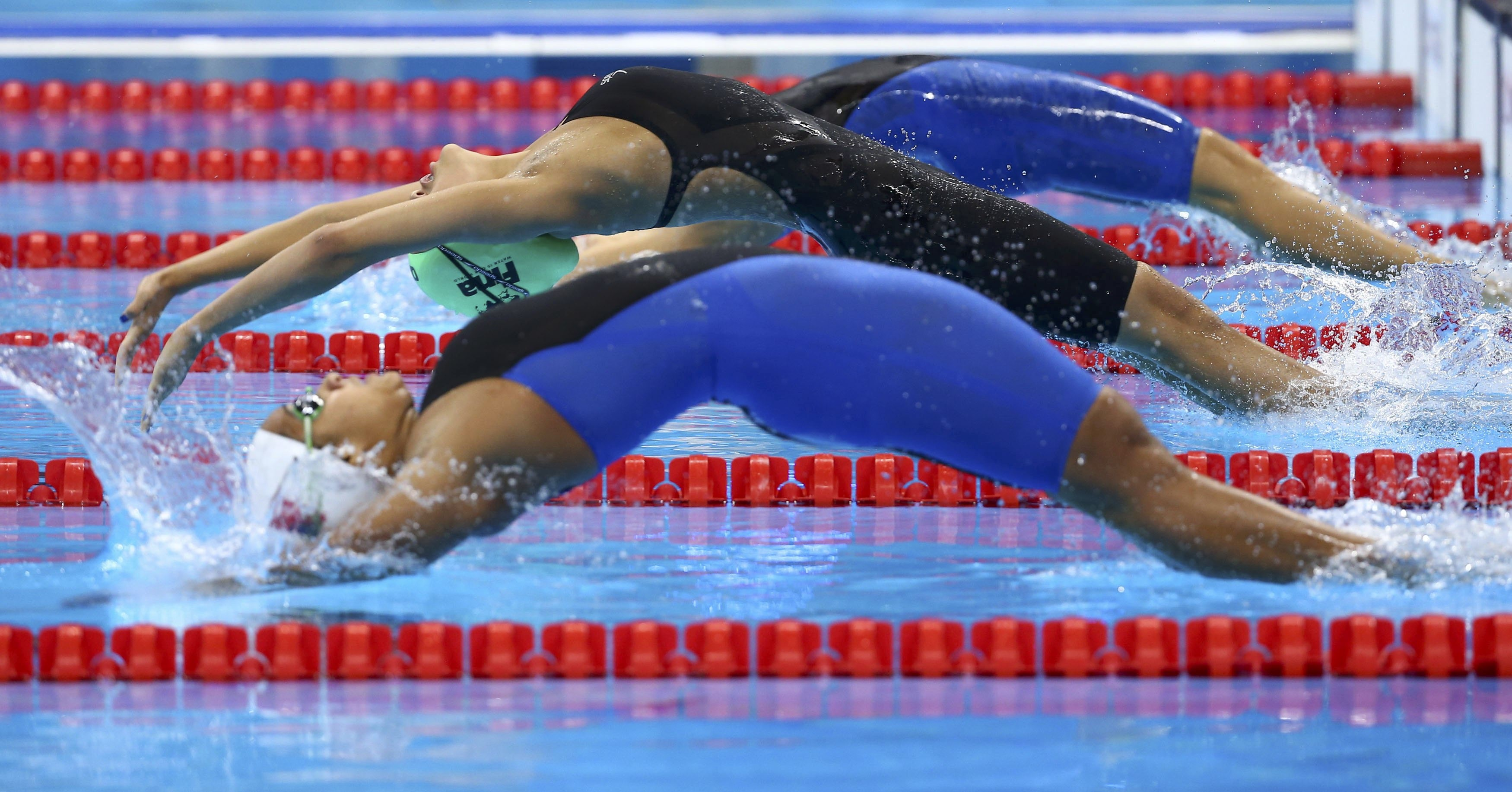 2016 Rio Olympics - Swimming - Preliminary - Women's 100m Backstroke - Heats - Olympic Aquatics Stadium - Rio de Janeiro, Brazil - 07/08/2016. Gaurika Singh (NEP) of Nepal competes. REUTERS/Michael Dalder FOR EDITORIAL USE ONLY. NOT FOR SALE FOR MARKETING OR ADVERTISING CAMPAIGNS.