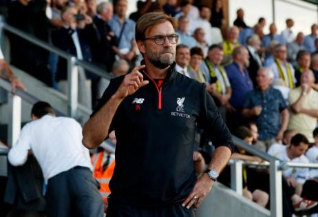 """Football Soccer Britain - Burton Albion v Liverpool - EFL Cup Second Round - Pirelli Stadium - 23/8/16 Liverpool manager Juergen Klopp before the match Action Images via Reuters / Lee Smith Livepic EDITORIAL USE ONLY. No use with unauthorized audio, video, data, fixture lists, club/league logos or """"live"""" services. Online in-match use limited to 45 images, no video emulation. No use in betting, games or single club/league/player publications. Please contact your account representative for further details."""