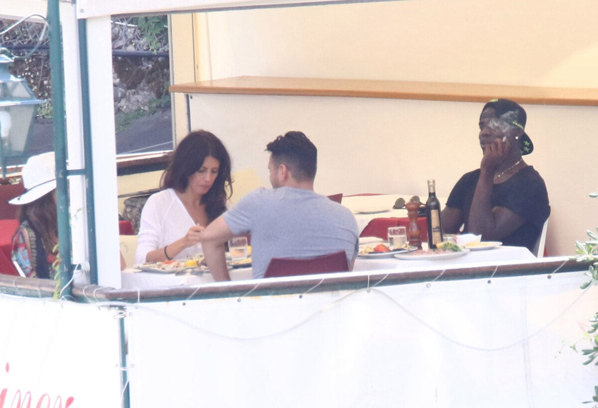 EXCLUSIVE: Football player Mario Balotelli spending one day in Santa Margherita Ligure with some friends, having lunch at a restaurant and enjoying a boat trip. Pics shot July 31st. Pictured: Mario Balotelli Ref: SPL1327980 010816 EXCLUSIVE Picture by: Splash News Splash News and Pictures Los Angeles: 310-821-2666 New York: 212-619-2666 London: 870-934-2666 photodesk@splashnews.com