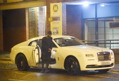 Daniel Sturridge parks his £200k Rolls Royce in a bus stop while ge tting a worker from il Forno restaurant to carry his takeaway out for him