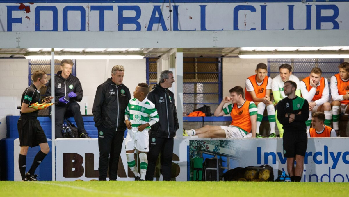 03.10.2016 Celtic v Hearts, SPFL Development League ............. KARAMOKO KADER DEMBELE COMES ON FOR DEBUT IN UNDER 20'S
