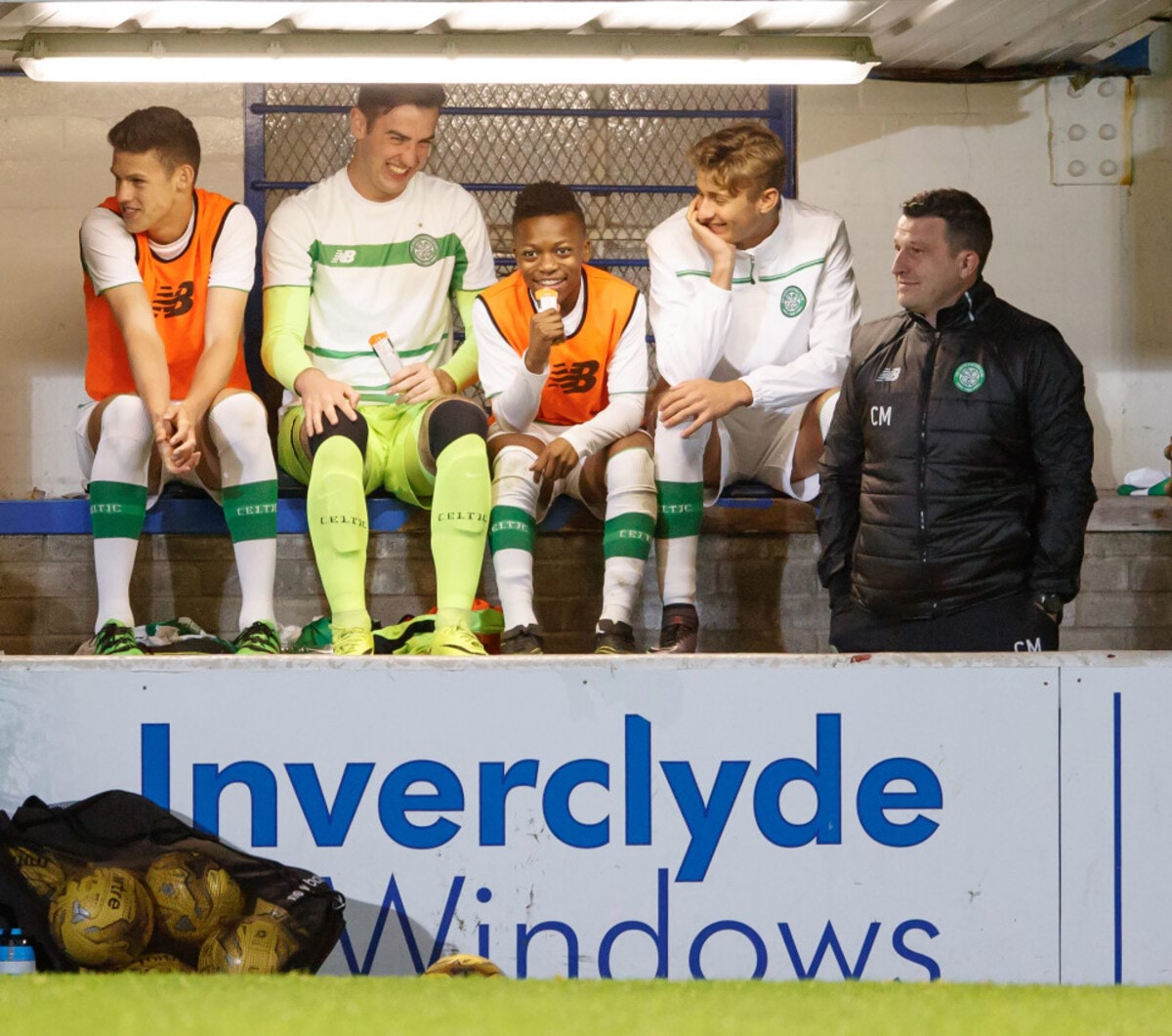 03.10.2016 Celtic v Hearts, SPFL Development League ............. KARAMOKO KADER DEMBELE ON BENCH