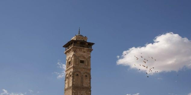A view shows the minaret of Aleppo's Umayyad mosque, Syria October 6, 2010. Picture taken October 6, 2010. REUTERS/Khalil Ashawi